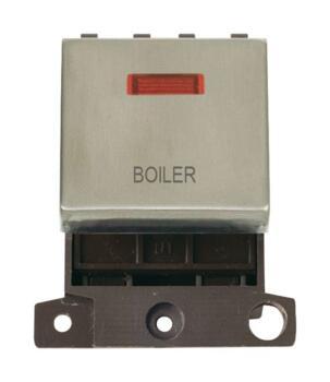 Mini Grid Stainless Steel 20A DP Ingot Switch Neon - Boiler