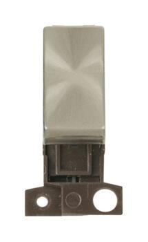 Mini Grid Brushed Steel 13A/10AX DP Ingot Switch - Plain - Unprinted