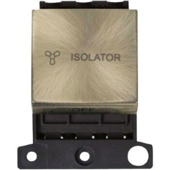 Mini Grid 'Ingot' 10A 3 Pole Fan Isolation Module - Antique Brass
