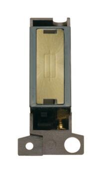 Mini Grid 'Ingot' 13A Fused Spur Module - Antique Brass with Black Interior