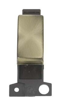 Mini Grid 10A 'Ingot' 3 Position Switch Module - Antique Brass
