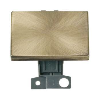 Mini Grid 2 Way 10AX Ingot Paddle Switch Module - Antique Brass
