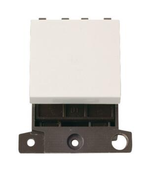 Mini Grid 32A DP Switch Module - Twin Width - Polar White