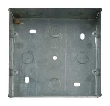 Mini Grid 2 Tier Backbox - 47mm Deep Galvanised - 2 Tier Backbox