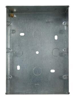 Mini Grid 3 Tier Backbox - 47mm Deep Galvanised - 3 Tier Backbox