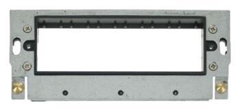 Mini Grid Yoke - 6 Module GR100 - Black Insert