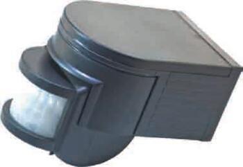 External PIR Motion Detector - Black 1000W - Black