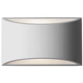 Gypsum Curved Up/Down Wall Light - Wall Light