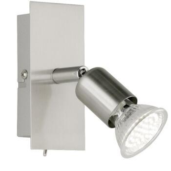 Nimes Satin Nickel Spot Lights - 1 LED Spot Incl Switch