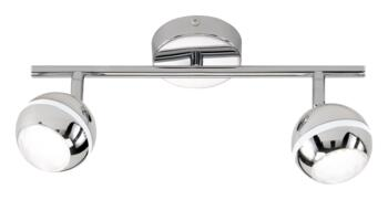 Chrome Ceiling Spot Lights - 2 Light