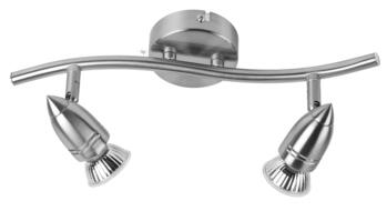 Brushed Nickel Halogen Bar Lights - Twin - Brushed Nickel