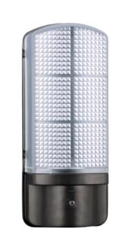Epping LED Exterior Wall Light - Black With Prismatic Diffuser