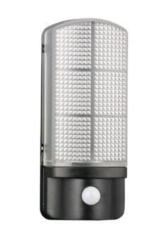 Epping PIR LED Exterior Wall Light - Black With Prismatic Diffuser And Built-In PIR