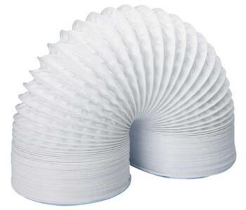 "Flexible PVC Ducting - 5"" 125mm White - 3m Pack"