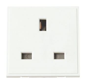 Euro Data Module 13A Socket - 13A Socket White
