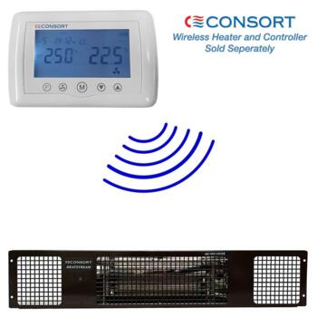 Black Electric Plinth Heater - Consort - 2kw Wireless