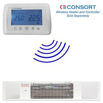 White Electric Plinth Heater - Consort  - 2kw Wireless