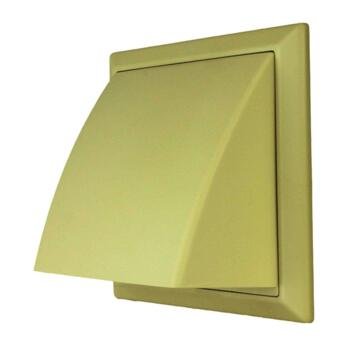 "5"" Inch Cowled Wall Vent 125mm - Cream"
