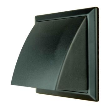 """4"""" Inch Cowled Wall Vent 100mm - Black"""