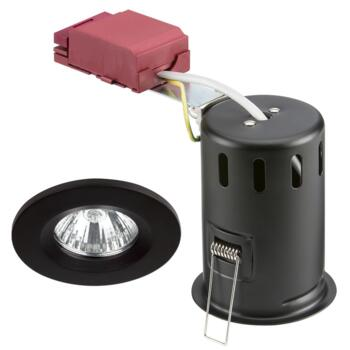 Matt Black Fire Rated Downlight GU10 Fixed  - Fitting Only