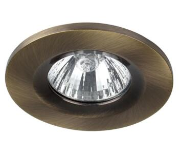Antique Brass Fire Rated Downlight GU10 Fixed - Fitting Only