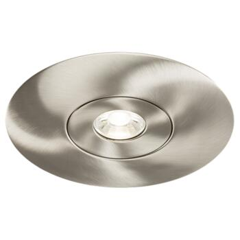 Brushed Chrome Fire Rated Downlight Converter Kit - Converter Plate